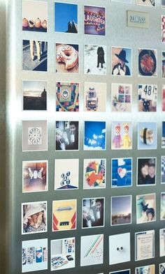 Diy Crafts Ideas : These cool magnets can be made with photos from your Instagram camera-roll or d