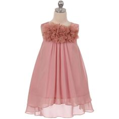 34.00$  Watch now - http://vifsi.justgood.pw/vig/item.php?t=zsghzk219487 - Dusty Rose Mesh Flower Chiffon A-Line Girl Dress Birthday Party Pageant Wedding 34.00$