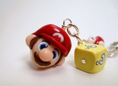 Super Mario Bros. Keychain - Polymer Clay Charms - WEEKEND