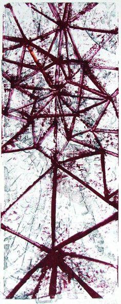 "FGPP #32, 2011, watercolor monoprint, 28 3/4"" x 13 1/2"""