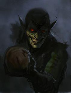 Green Goblin from Marvel Comics by Dave Rapoza Comic Book Villains, Marvel Villains, Comic Book Characters, Marvel Characters, Comic Books Art, Comic Art, Marvel Comics, Marvel Art, Dark Comics