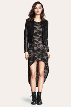 Can't get enough of this edgy burnout-patterned dress!