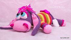 Crochet toy Amigurumi Pattern Sweet Purple Donkey. от LilikSha