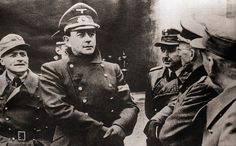 Nazi Reichminster Albert Speer, OT Chief in Charge of War Production, wears a skeptical look as he gazes at a portion of the Atlantic wall which is being rushed to completion as fear of an Allied invasion mounts. Nazi Propaganda, Military History, Ww2 History, History Facts, The Third Reich, Great Videos, Documentary Film, World War Ii, Documentaries