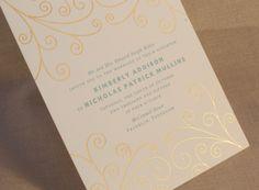 Letterpress printed in Robin's Egg blue with our gold scroll motif. William Arthur, Four O Clock, Spring Wedding Inspiration, Letterpress Printing, Wedding Paper, Flower Patterns, Wedding Designs, Affair, Egg