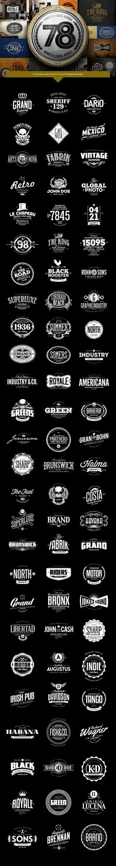 78 Badges & Logos Bundle by Easybrandz on Creative Market