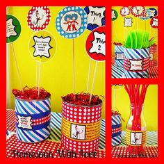 Easy center pieces for shower tables