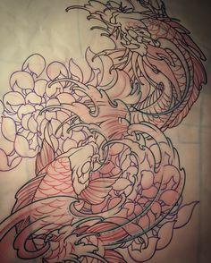 Amsterdam TATTOo 1825 KIMIHITO Koi & Koi Dragon tattoo design
