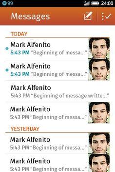 SMS bandeja de entrada con mensajes
