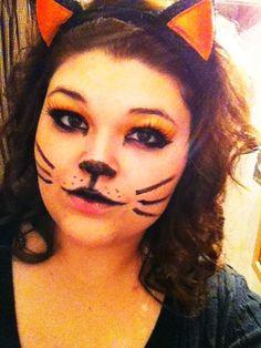 Halloween cat make up