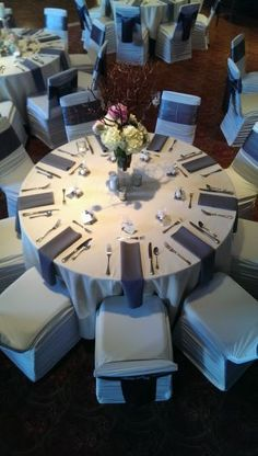 Table setting at Todd Creek Golf Club in Thornton, Colorado.