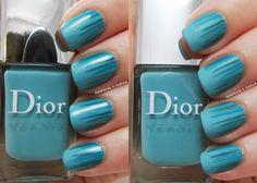 Turquoise Waterfall Nail Art! Shiny or Matte?