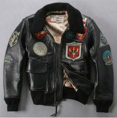 Avirex fly fur collar genuine leather jacket men brown thick sheepskin flight jacket black men's winter leather coat pilot suit|Genuine Leather Coats| - AliExpress