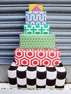 Design Context :: OCD: MODERN WRAPPING PAPER / GRAFIKA - this would make a really cool cake icing combination..
