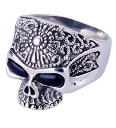 anillos de plata para hombre calaveras