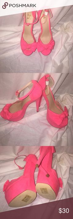 Beau and Ashe size 10 heels Gorgeous pink heels size 10, platform heels about 5.5 inches Beau and Ashe Shoes Heels