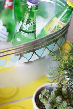 DIY Patterned Galvanized Tub | Lovely Indeed