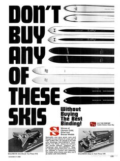 SKIING Nov 1968 - Salomon, A&T - pugski