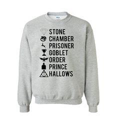 Harry Potter Books Sweatshirt by HirschiDesigns on Etsy, $24.00