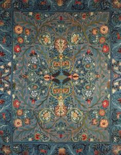 Acanthus bed cover by William Morris, late 19th century
