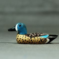 Blue Winged Teal Mini carving