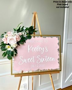 Diy Sweet 16 Decorations, Sweet 16 Party Themes, Party Wall Decorations, Prom Decor, Sweet Sixteen Parties, Birthday Decorations, Twin Birthday Parties, Sweet 16 Birthday, Half Birthday