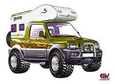 Jimny camper   Flickr - Photo Sharing! Off Road Camper, 4x4 Off Road, New Suzuki Jimny, Jimny 4x4, Patrol Gr, Best 4x4, Nissan Patrol, Utility Trailer, Ford Bronco