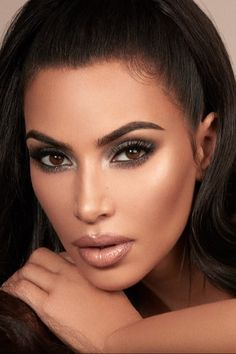 """""""Sexy"""" is a loaded word, but to me, it's confidence and magnetism — everything that Kim Kardashian West emanates. When she released her KKW Kardashian Beauty, Kim Kardashian, Seductive Eyes, Gal Gadot Wonder Woman, Beauty Lash, Nude Lipstick, Contouring And Highlighting, Fantasy Women, Classy Women"""