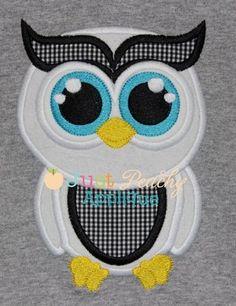 Owl 2 Applique Design