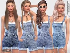 - The Best: Clothing by Pinkzombiecupcake Sims 4 CC's - The Best: Clothing by Pinkzombiecupcake Sims 4 CC's - The Best: Clothing by Pinkzombiecupcake Pinkzombiecupcakes' Summer Adidas Short Dungarees The Sims Resource: Super Short Denim Romper by Saliwa Sims 4 Teen, My Sims, Sims Cc, Sims 4 Dresses, Short Dresses, Outfits For Teens, Cool Outfits, Sims 4 Outfits, Denim Dungarees