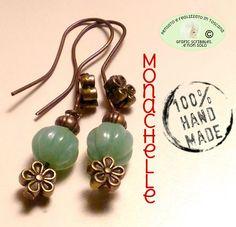 ORECCHINI A MONACHELLA HAND MADE http://graficscribbles.blogspot.it/2016/02/jewerly-handmade-orecchini-monachelle-giada-quarzo.html #handmadejewelry