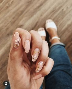 Chic Nails, Stylish Nails, Trendy Nails, Perfect Nails, Gorgeous Nails, Hair And Nails, My Nails, Nagellack Design, Oval Nails