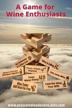 Various Jenga drinking games. Largest Giant Drinking Game Available on the market! You can choose the 54 phrases off a list of over 100 at no extra charge! Wine Jenga, Weed Jenga, Sexy Jenga variations. Jenga Drinking Game, Movie Drinking Games, Pine Design, Adult Party Games, Camping Activities, Game Ideas, Game Night, More Fun, Weed