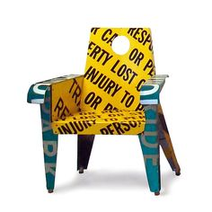 Not Responsible Broadway Armchair Metal Chair Created by Boris Bally