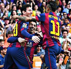 Best players in the world MSN (Messi Suares and Neymar)