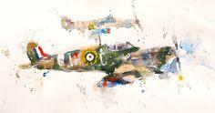 Hurricanes Aeroplanes, The Past, Painting, Art, Art Background, Painting Art, Kunst, Paintings, Performing Arts