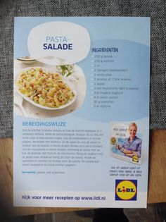 Pastasalade Salad Recipes, Healthy Recipes, Dinner Is Served, Fabulous Foods, Weight Watchers Meals, Light Recipes, Food Porn, Food And Drink, Lose Weight