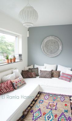 www.elramlahamra.nl vintage Moroccan Ourika rug and kilim pillows