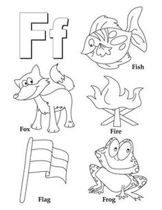My A to Z Coloring Book Letter F coloring page - pictures for every letter of the alphabet -a great find.
