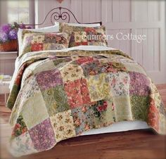 French Country Quilts | MULBERRY COTTAGE PATCHWORK FRENCH COUNTRY QUILT & PILLOW SHAMS - KING ...