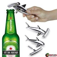 Hammerhead shark corkscrew/bottle opener: http://www.amazon.com/gp/product/B00EV5HXCS/ref=as_li_tl?ie=UTF8&camp=1789&creative=390957&creativeASIN=B00EV5HXCS&linkCode=as2&tag=wek075-20&linkId=NISWRZ73WXZZW6BN