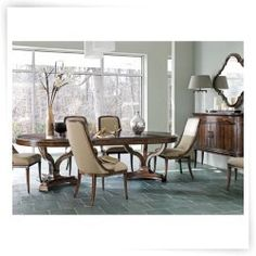 Great Stanley Furniture Avalon Heights 7 Piece Epoch Dining Set With Olympia Host  Chairs Amazing Pictures