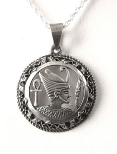 Necklace Egyptian Pharoah Sterling Silver by JewelryDiscoveries