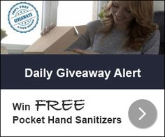 Daily Giveaway Alert is giving away Bath & Body Works Pocket Hand Sanitizer to their subscribers. 500 people will be
