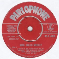 """7"""" 45RPM Mrs. Mills Medley EP from Parlophone"""