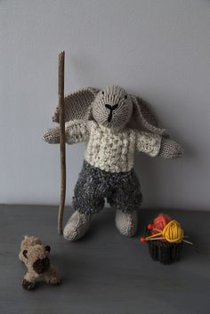 Rustic Ralph the Country Rabbit pattern by Debbie Bliss Knitting Projects, Knitting Patterns, Knitting Ideas, Knitted Teddy Bear, Diy And Crafts, Rabbit, Rustic, Country, Toys