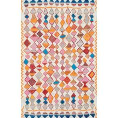 Bungalow Rose Bethlehem Hand-Tufted Orange/Pink Area Rug Rug Size: 5' x 8'