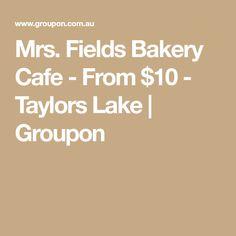 Mrs. Fields Bakery Cafe - From $10 - Taylors Lake   Groupon Mrs Fields, Soft Baked Cookies, Baskin Robbins, Fudgy Brownies, Bakery Cafe, Menu Items, Taylors, Frappe, Milkshake