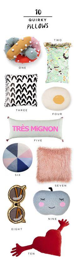 10 Quirky Pillows