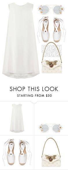 """""""White Heat"""" by youaresofashion ❤ liked on Polyvore featuring Mulberry, Cara Accessories, Gucci and heatwave"""